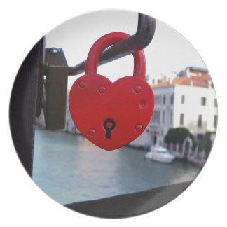 love lock in venice plate