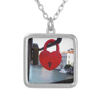 love lock in venice silver plated necklace
