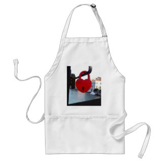 love lock in venice standard apron