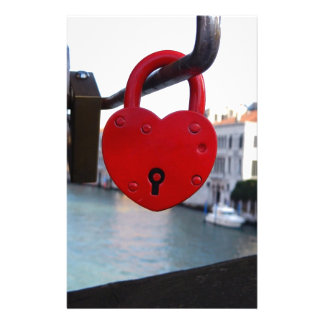 love lock in venice stationery