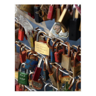 Love lock postcard