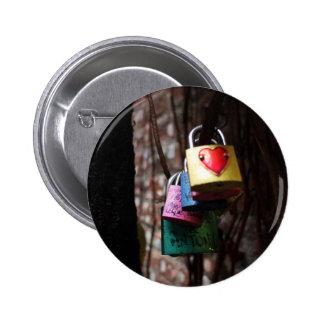 Love Locked 2 Inch Round Button