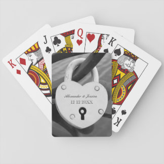 Love locker wedding party favor playing cards