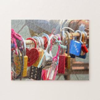 Love Locks Brooklyn Bridge New York. Jigsaw Puzzle