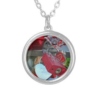 Love locks (Liebesschlösser) Silver Plated Necklace