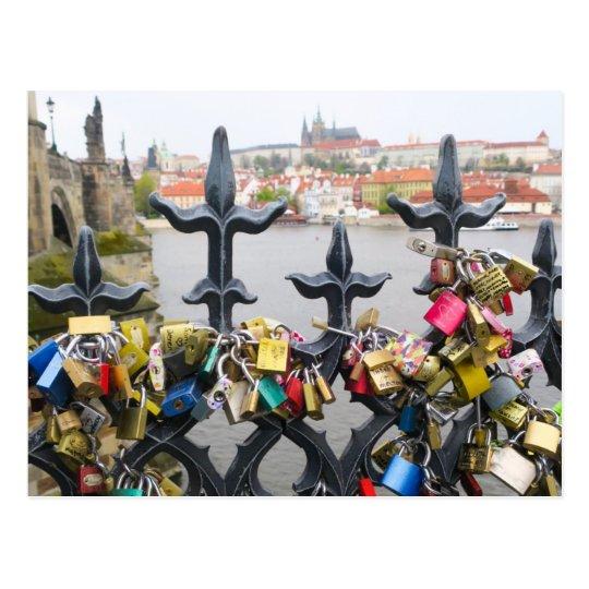 Love Locks Prague Postcard