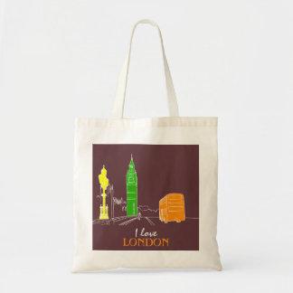 Love London City Stylish Modern Vibrant Big Ben Tote Bag