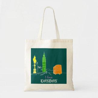 Love London Colorful Trendy Modern Vibrant Big Ben Tote Bag