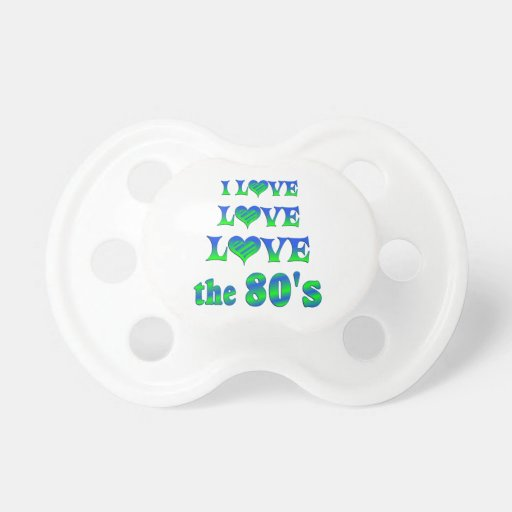 Love Love 80s Baby Pacifiers