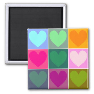 Love Love and More Love Square Magnet