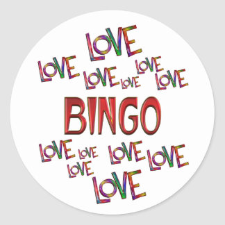 Love Love Bingo Round Sticker