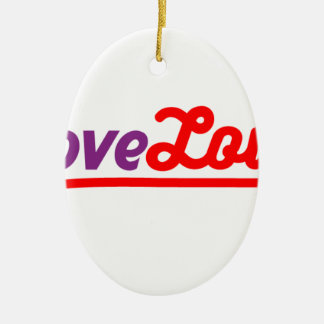 Love love ceramic ornament