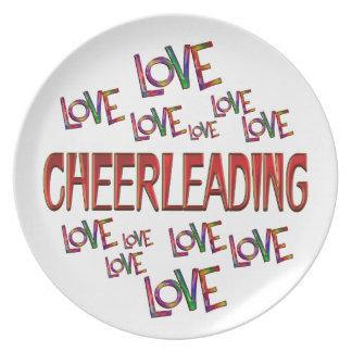 Love Love Cheerleading Plate