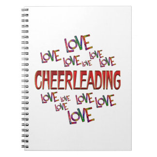 Love Love Cheerleading Spiral Notebook