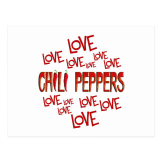 Love Love Chili Peppers Postcard