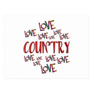 Love Love Country Postcard