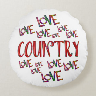 Love Love Country Round Pillow