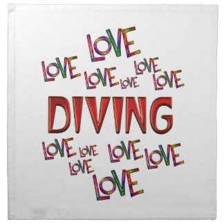 Love Love Diving Printed Napkin