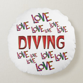 Love Love Diving Round Pillow