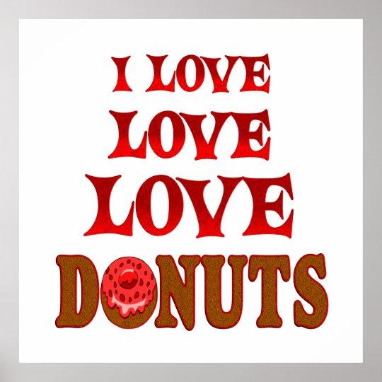 Love Love Doughnuts Poster