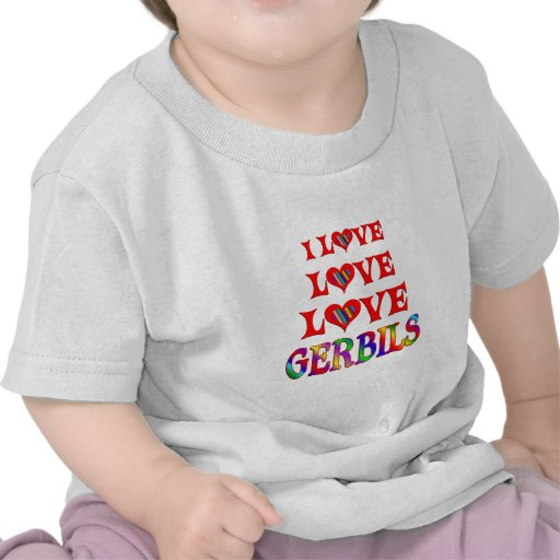 Love Love Gerbils Tshirts