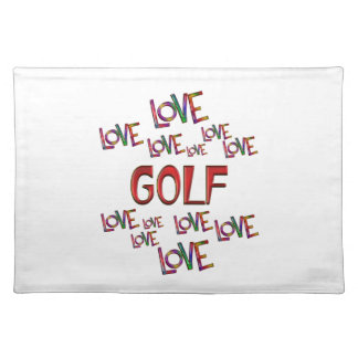 Love Love Golf Placemats