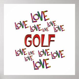 Love Love Golf Poster