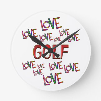 Love Love Golf Wall Clocks