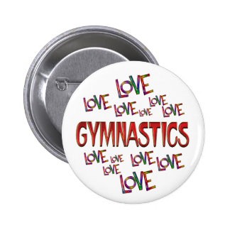 Love Love Gymnastics 2 Inch Round Button