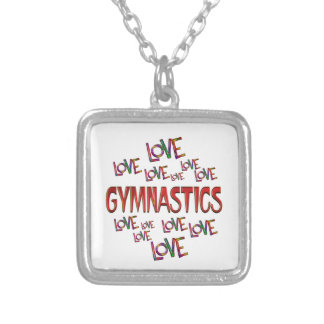 Love Love Gymnastics Silver Plated Necklace