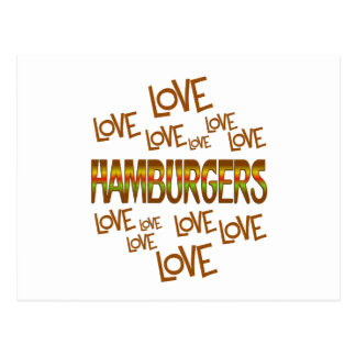 Love Love Hamburgers Postcard