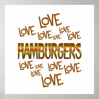 Love Love Hamburgers Poster