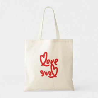 love & love handwritting tote bag