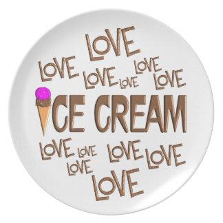 Love Love Ice Cream Dinner Plates