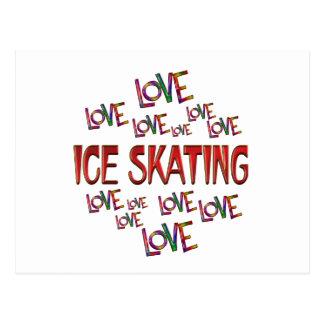Love Love Ice Skating Postcard