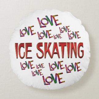 Love Love Ice Skating Round Pillow