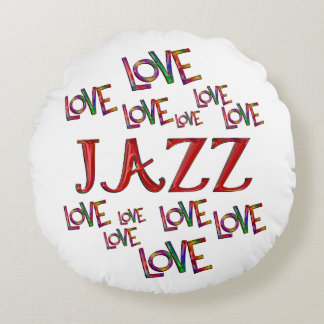 Love Love Jazz Round Pillow