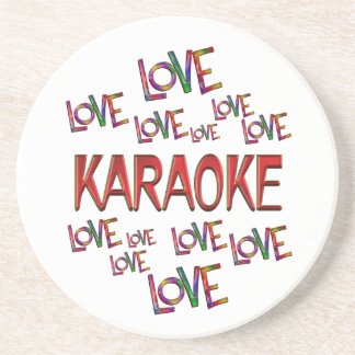 Love Love Karaoke Beverage Coaster