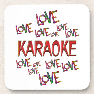 Love Love Karaoke Drink Coaster