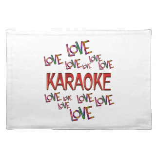 Love Love Karaoke Placemat