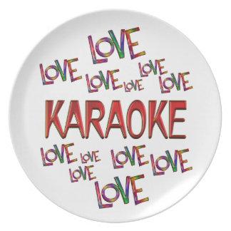 Love Love Karaoke Plate