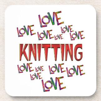 Love Love Knitting Beverage Coasters