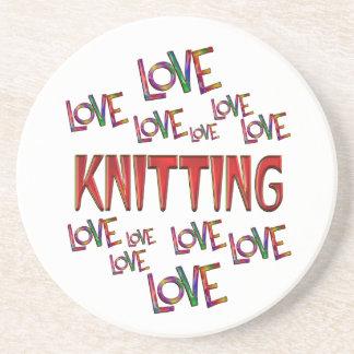 Love Love Knitting Coasters