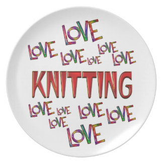 Love Love Knitting Plate