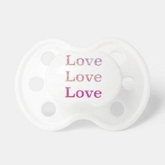 Love Love Love Baby Pacifiers