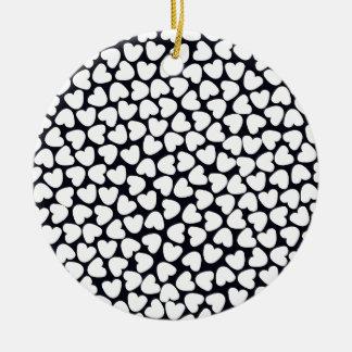 Love Love Love Ceramic Ornament