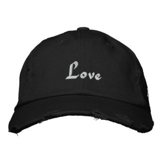 Love, Love, Love Embroidered Baseball Cap