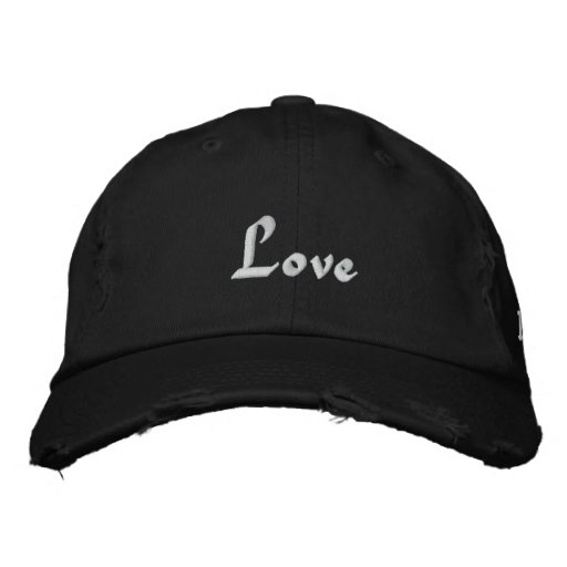 Love, Love, Love Embroidered Baseball Caps