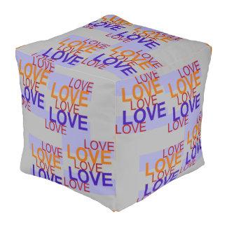 LOVE LOVE LOVE  Pouf-Home-Orange/Red/Blue/Gray Pouf