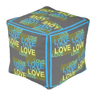 LOVE LOVE LOVE  Pouf-Home-Yellow/Blue/Gray/Green Pouf